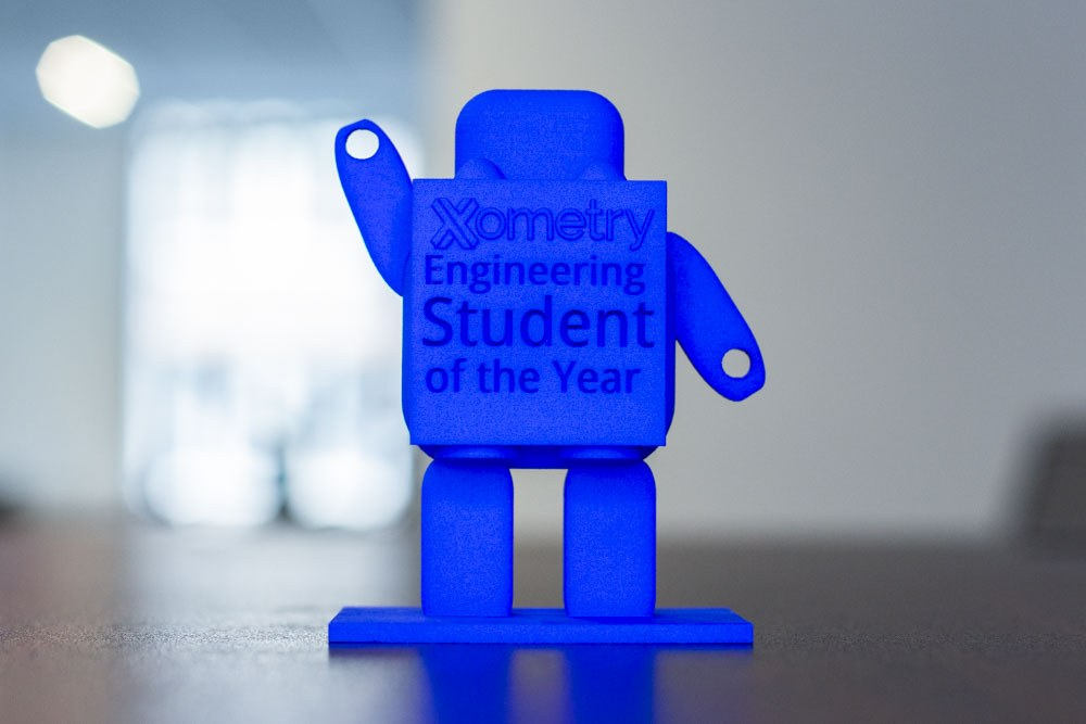 Xometry Engineering Student of the Year Trophy