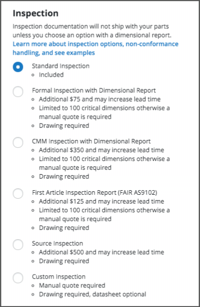 Xometry Inspection Reports
