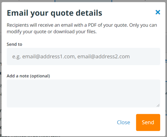 Email Your Quote Option in Xometry's Online Platform