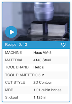 Programming machined features can be as simple as importing a recipe from Provencut