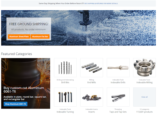 The Xometry Supplies' homepage