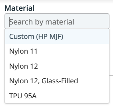 New Materials Available for HP MJF through Xometry's Instant Quoting Engine℠