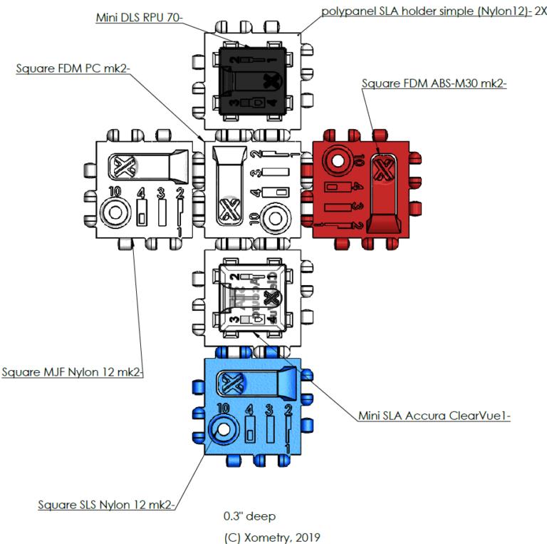 3D printing sample cube flat