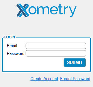 Xometry Instant Quoting Engine Add-In for SOLIDWORKS - Login Screen