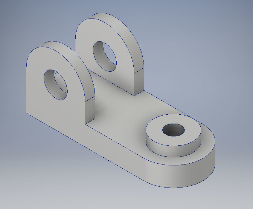 Xometry Instant Quoting Engine Add-In for Autodesk Inventor - Simple Bracket Part Model