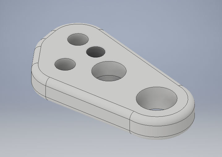 Xometry Instant Quoting Engine Add-In for Autodesk Inventor - Bracket Part Model