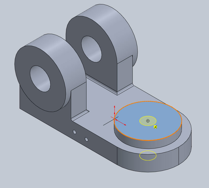 Xometry Instant Quoting Engine Add-In for SOLIDWORKS - Positioning Threaded/Tapped Holes on Simple Bracket Model
