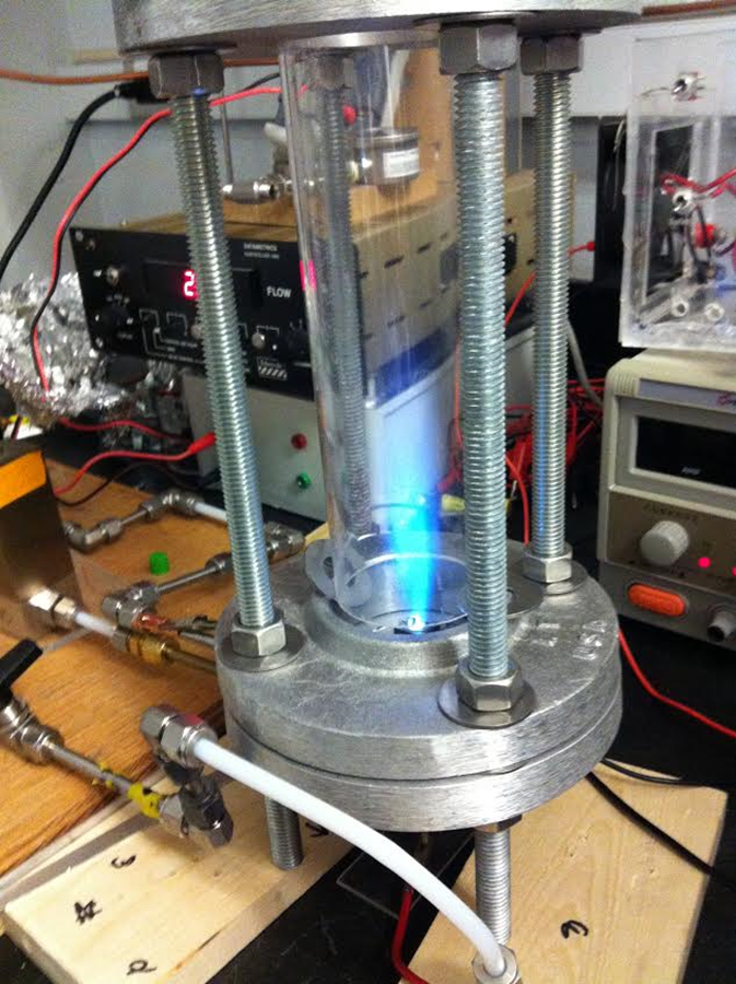 The destination of the nozzle – a plasma-assisted combustion chamber!