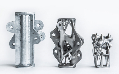 Part consolidation with 3D Printed Aluminum
