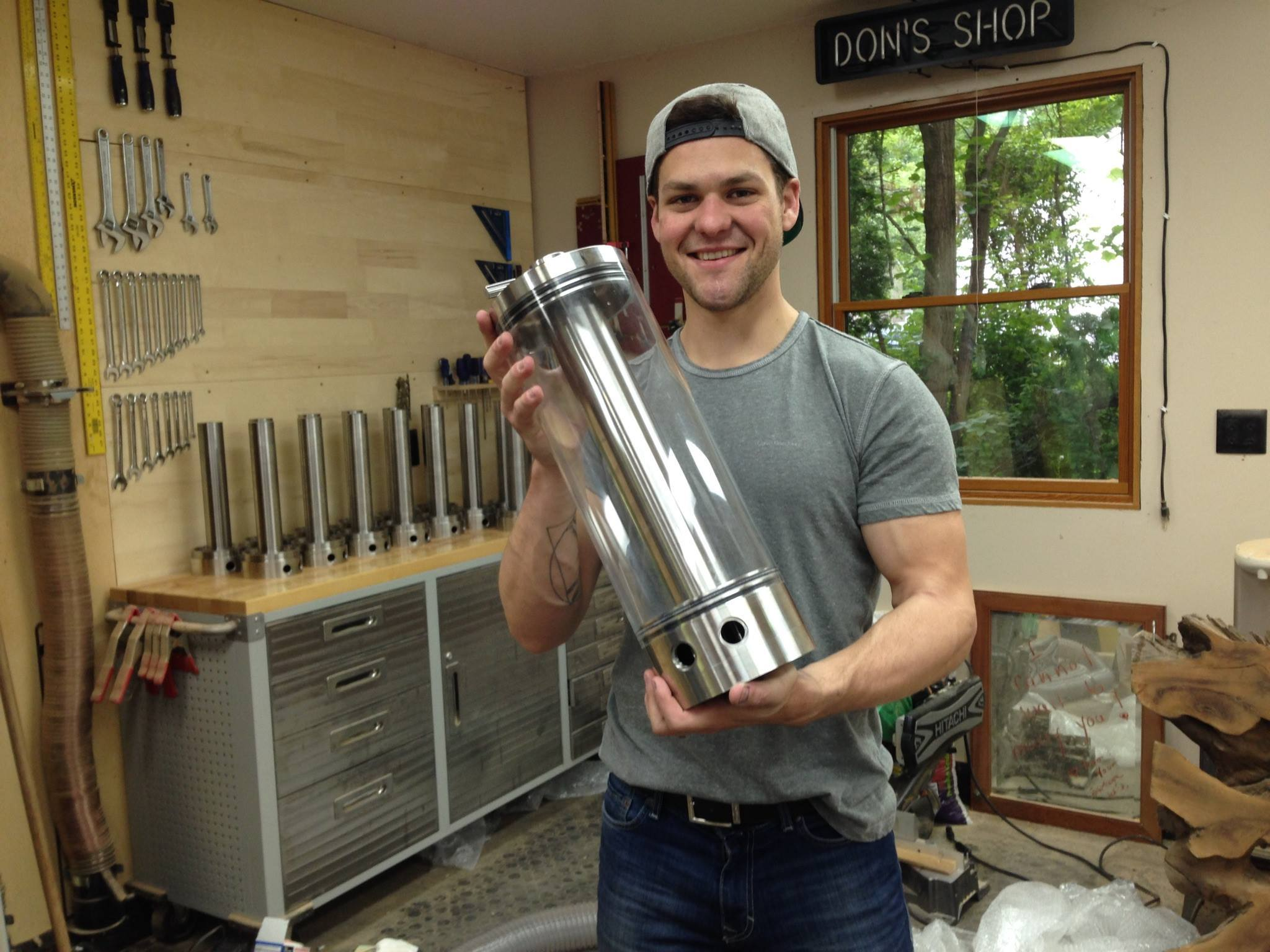 Matt Kyle with Fusion Tower beer infuser