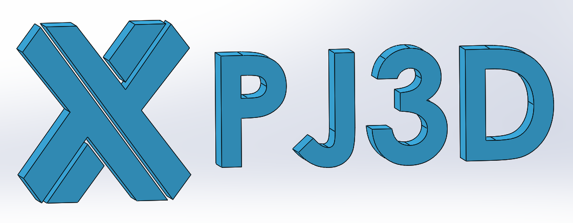 PJ3D Sample part front words