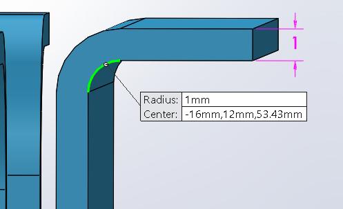 Correct bend radius